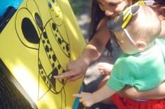 Not bad Oakes! (Bee sign care of Lauren)
