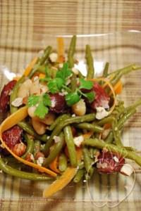 Salade tiède haricots verts et blancs gésiers confits (4)
