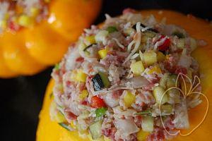 Verduras rellenas con dúo de jamón (8)