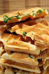 Gofres (salados) de guisantes (3)