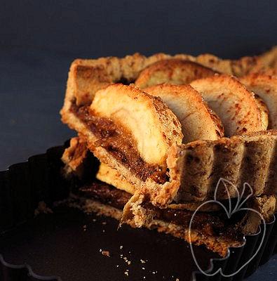 Tarta integral de manzana con compota de ciruelas -copia-3