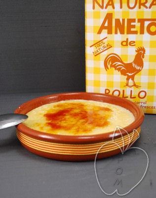Crema catalana de caldo de pollo Aneto (2)