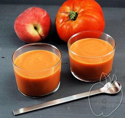 Crema fría de tomate y melocotón (5) - copia