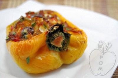 Pimientos rellenos vegetales al estilo italiano (11) - copi