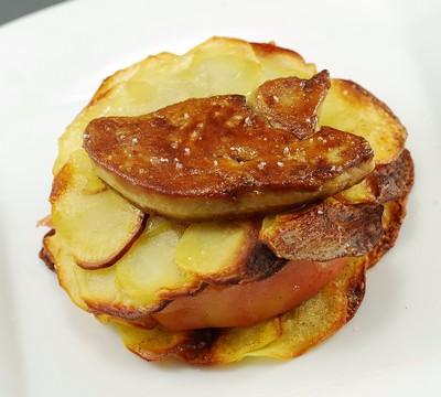 Tarta de manzana y foie con base de patata (10)