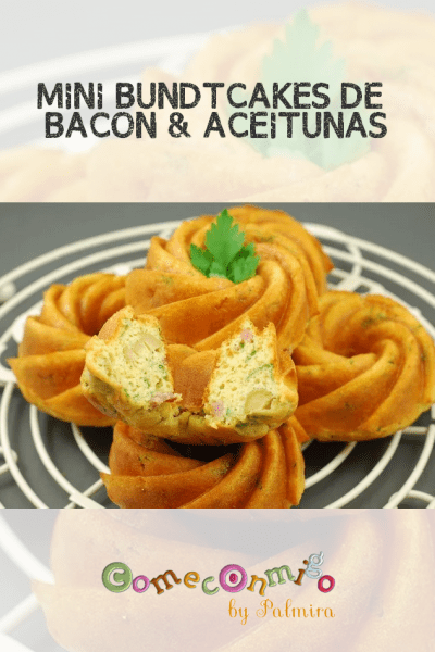 MINI BUNDTCAKES DE BACON & ACEITUNAS