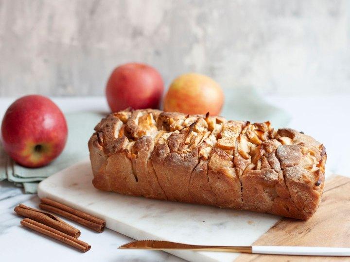 Herbstliches Apfel Zimt Zupfbrot