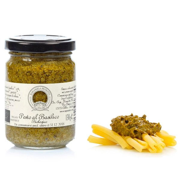 Pesto au basilic bio Prunotto Épicerie Fine Grocery Store Pesto Tomates et Sauces Come à lÉpicerie Take Away Delivery Luxembourg 1
