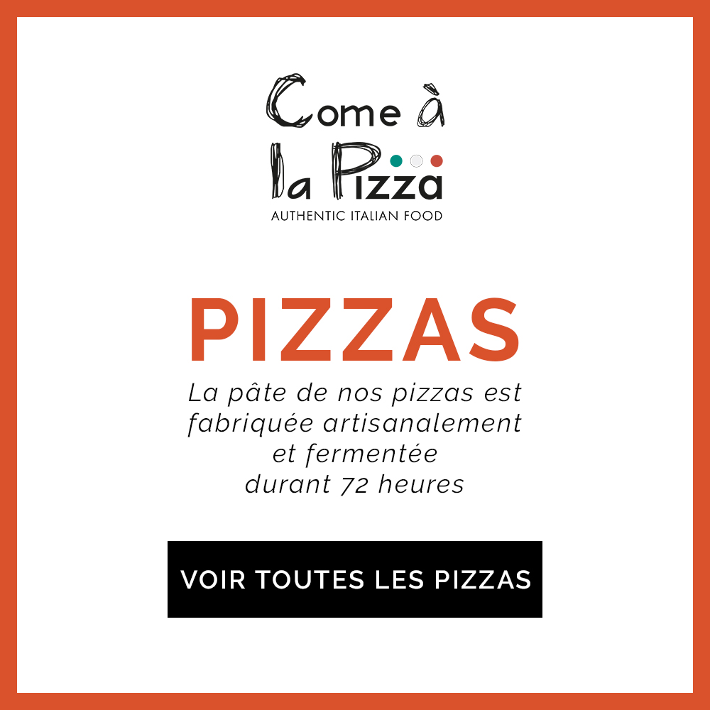 Come à la Pizza Plats Take Away Delivery Luxembourg