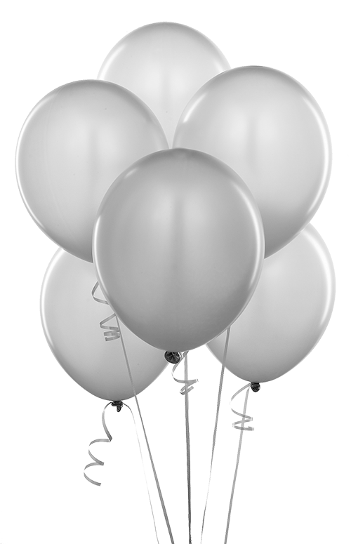 Balloon Bouquet - Silver