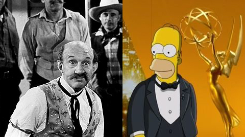 James Finlayson and Homer Simpson.