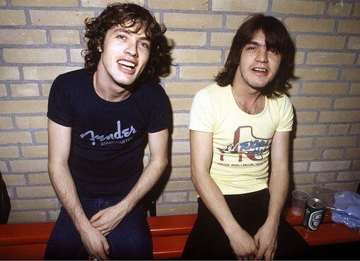 Angus & Malcolm Young of AC/DC | Height 5 feet 2 inches
