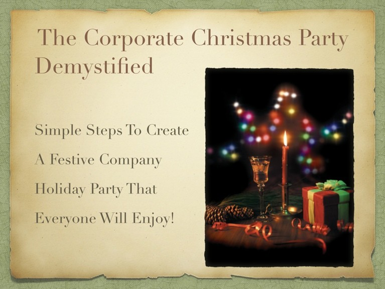 The Corporate Christmas Party Demystified