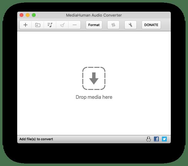 La schermata principale di Audio Converter