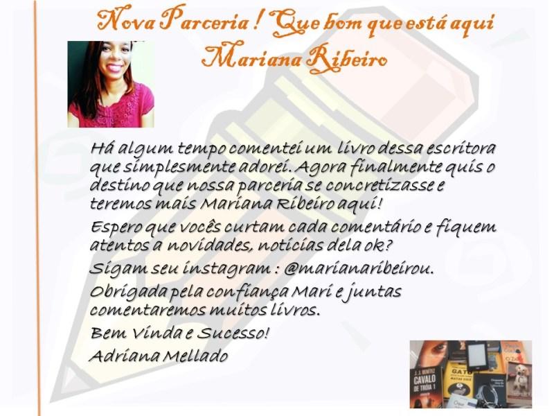 Parceria Mariana Ribeiro e Comenta Livros
