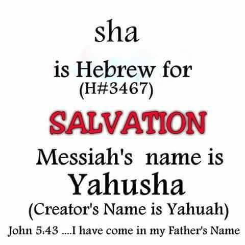 sha is Hebrew for Salvation. Messiah's name is Yahusha.