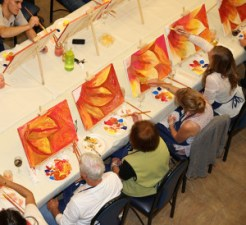 Artistic participants at Painting class