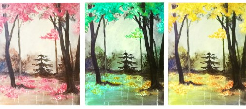 Trees in colors