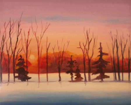 Winter Dream, acrylic