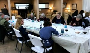 creating a beautiful watercolor painting of Tahoe Shore