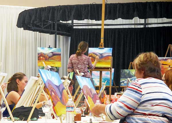 Historic barn painting class in Grass Valley CA