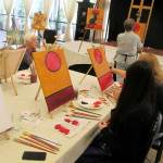Chat Noir paint and wine class in Grass Valley cA