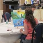 Yuba river acrylic paint and wine class