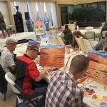 Sunset sea paint class