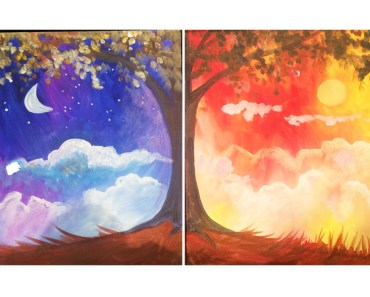 Night and Day paintings