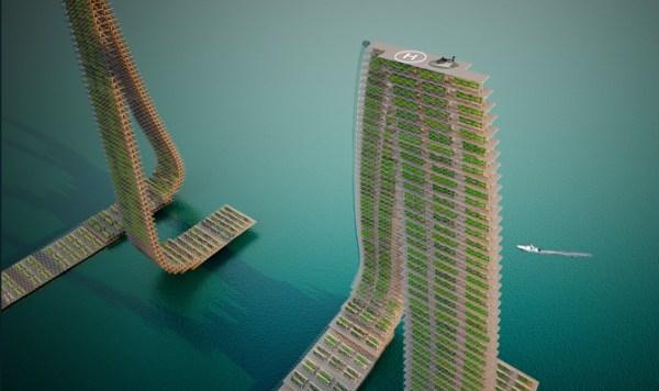 Granjas verticales flotantes: una nueva forma de cultivar en zonas densamente pobladas