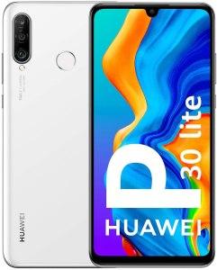 "Huawei P30 Lite - Smartphone de 6.15"" (WiFi, Kirin 710, RAM de 4 GB, memoria de 128 GB, cámara de 48+2+8 MP, Android 9) Color Blanco"