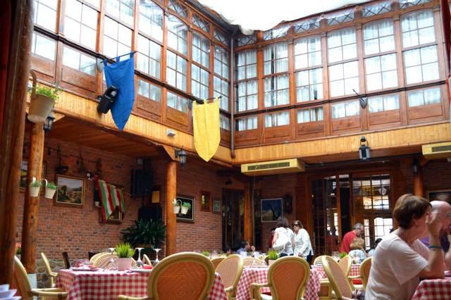 Patio interior Restaurante La Encomienda