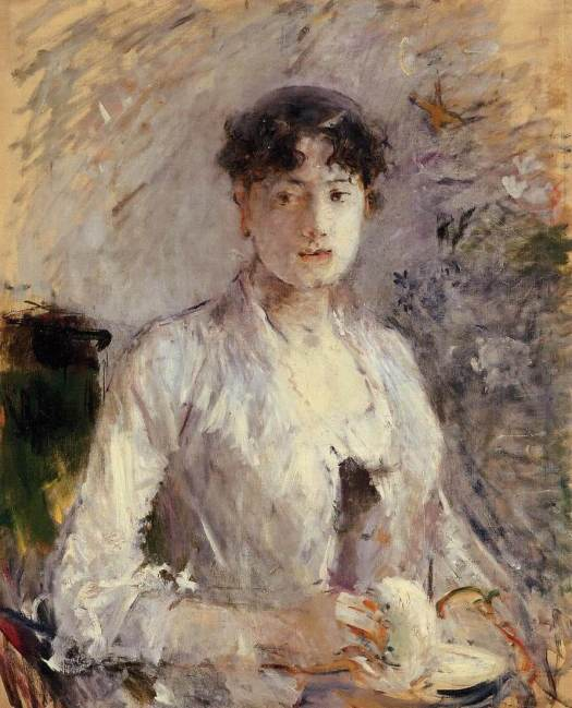 """Young Woman in Mauve"" por Berthe Morisot"