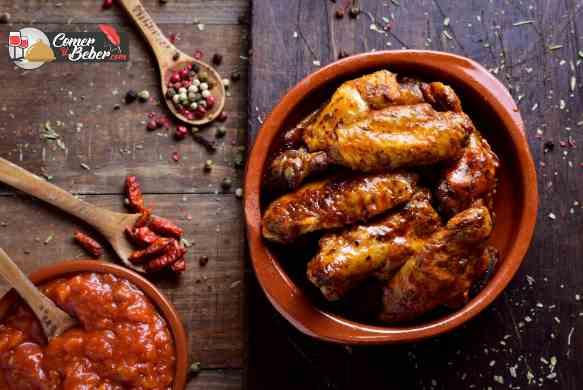 alitas de pollo al horno adobadas