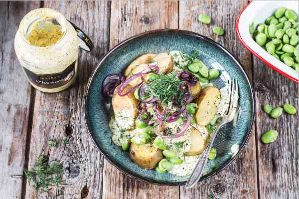 receta ensaladilla rusa con mayonesa y mostaza