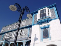 Some of the pretty seafront architecture in Lyme Regis.
