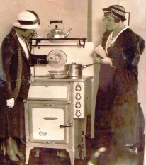 This was my favourite photograph from the exhibition, ladies inspecting one of the new, Creda, electric cooker in the 1920s. This photograph is in the St. Barbe Museum collection.
