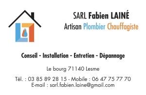 Carte de visite SARL Fabien Lainé