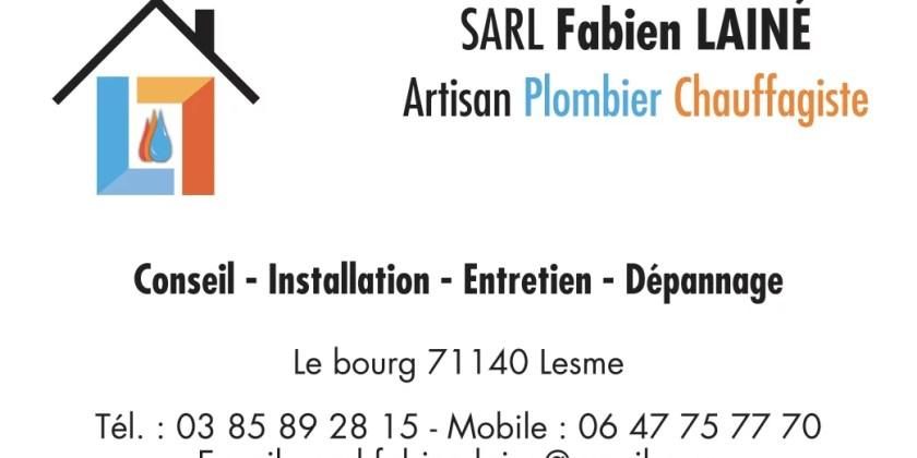 Cartes de visite SARL Fabien Lainé