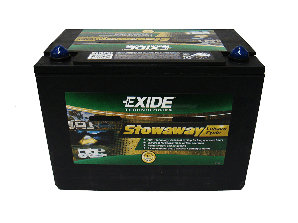 EXIDE STOWAWAY LEISURE CYCLE ST27DC105 D