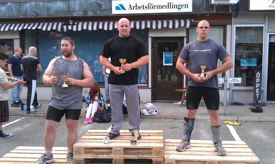 Sveriges starkaste man -105kg, Herrljunga 2012