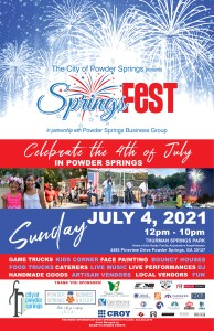 SpringsFest on the 4th 2021 Poster