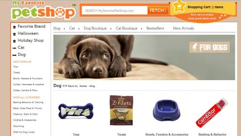 My Favorite Pet Shop - Dog Boutique - Dog Accessories - Dog Toys