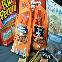 DIY Halloween Dog Treat Bags #TreatThePups #Ad