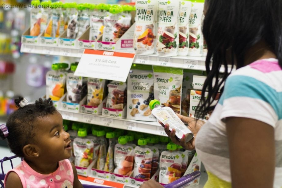 Check back of baby food labels