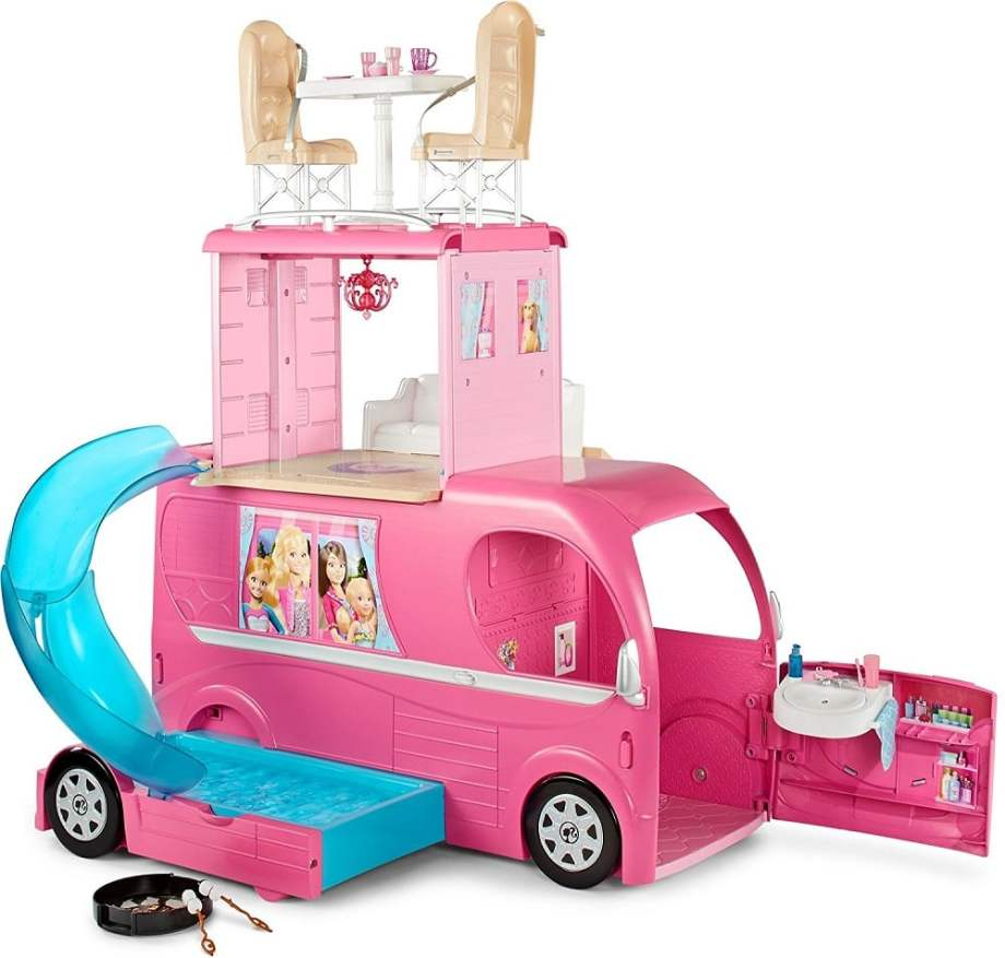 Barbie Pop-Up Camper Vehicle - ComeWagAlong.com Holiday Gift Guide: Gifts for Kids