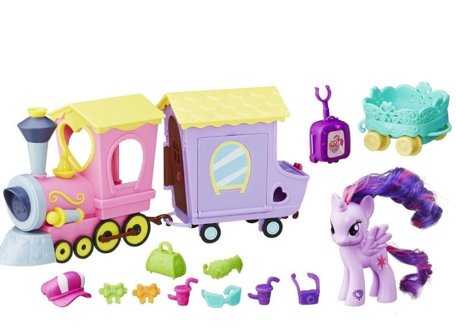 My Little Pony Explore Equestria Friendship Express Train Set - ComeWagAlong.com Holiday Gift Guide: Gifts for Kids