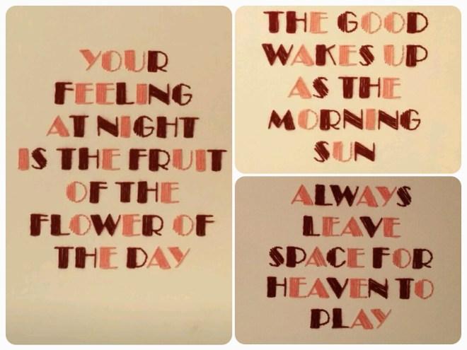 3 broderede citater til vores soveværelse | broderi bogstaver | søstrene grene lærreder