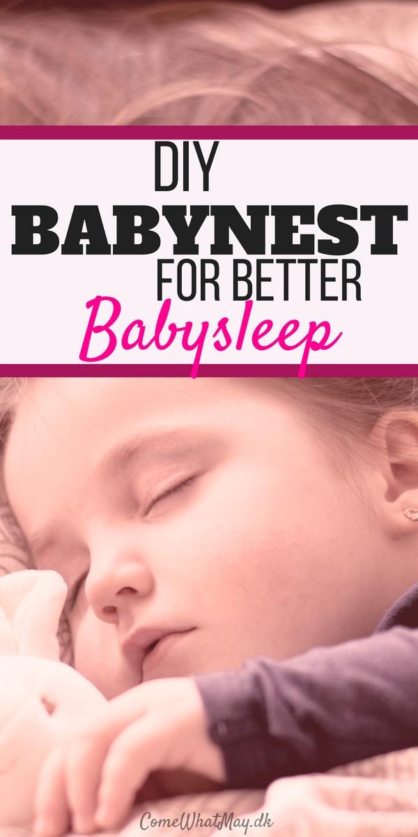 Babynest DIY for better babysleep. Create your own baby nest #babynest #babysleep #DIY