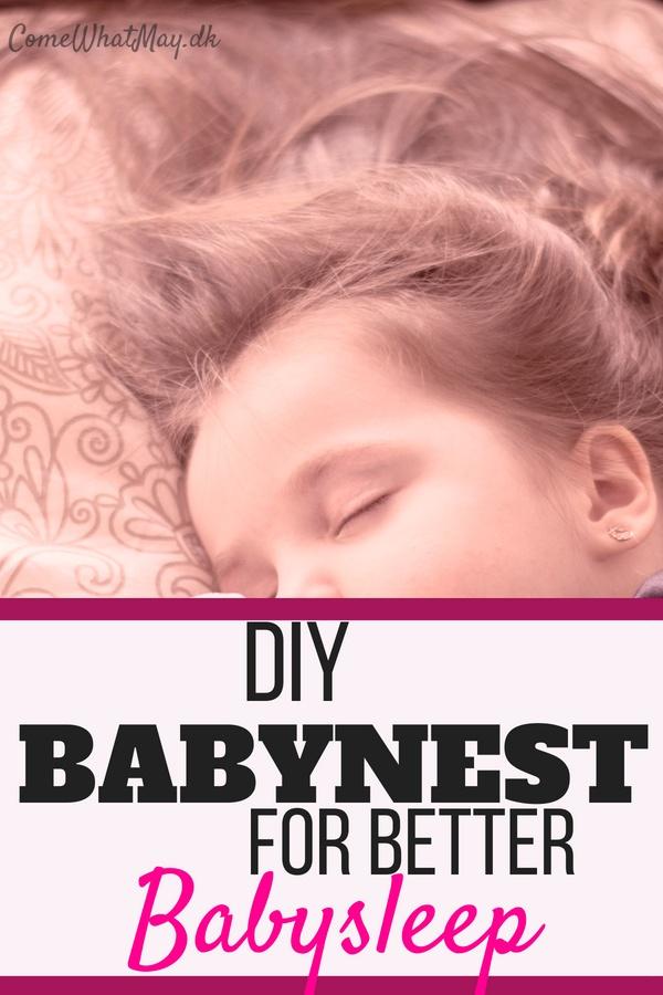 DIY babynest for better babysleep baby nesst #babynest #babysleep #DIY